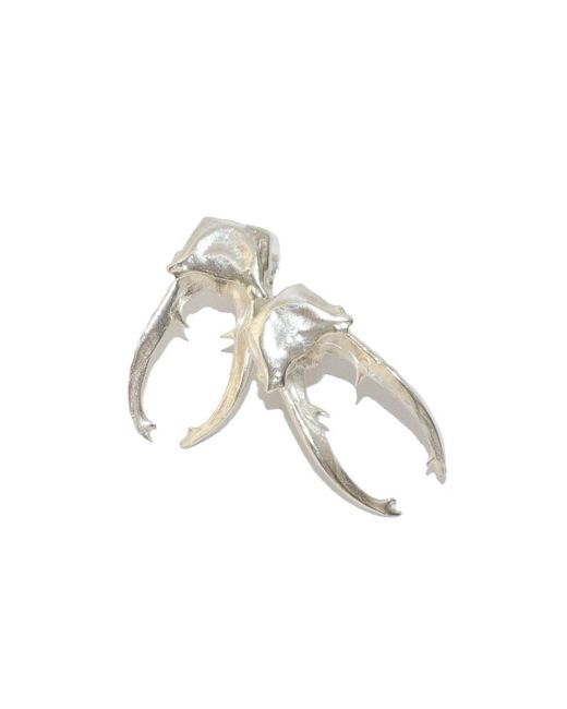 Tracy Hills Jewellery - Metallic Polished Silver Stag Beetle Earrings - Lyst