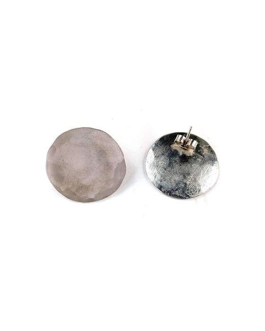 Fran Regan Jewellery Large Silver Discus Studs RLPA3lwVjc