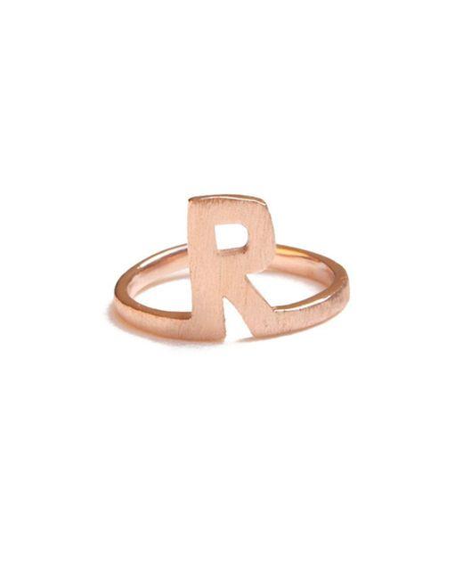 ZLABA - Multicolor Alphabet - R Ring - Lyst