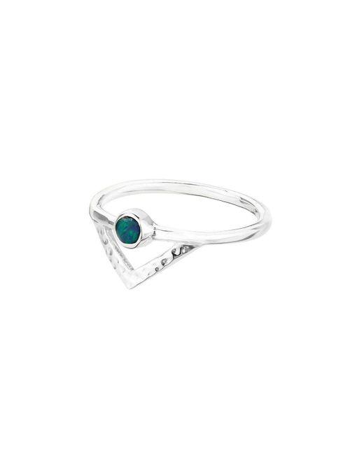 ICHU - Metallic Open Triangle Opal Ring - Lyst