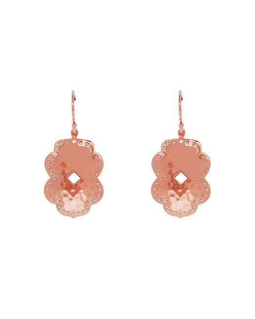 Murkani Jewellery - Multicolor Rose Gold Plated Beleza Medium Drop Earrings - Lyst