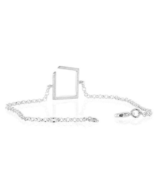 Ilda Design - Metallic Square Silver Bracelet - Lyst