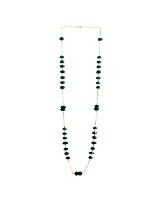 M's Gems by Mamta Valrani - Metallic Regal Hues Gold Chain With Green Onyx - Lyst