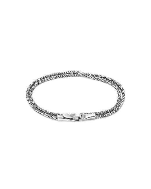 Anchor & Crew - Metallic Forestay Double Sail Silver Chain Bracelet - Lyst
