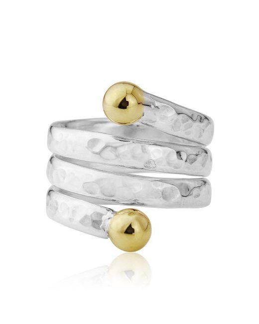 Lavan - Metallic Silver Spiral Ring - Lyst