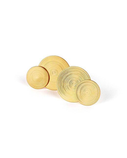 aka jewellery - Metallic Gold Plated Silver Orbit Earrings - Lyst