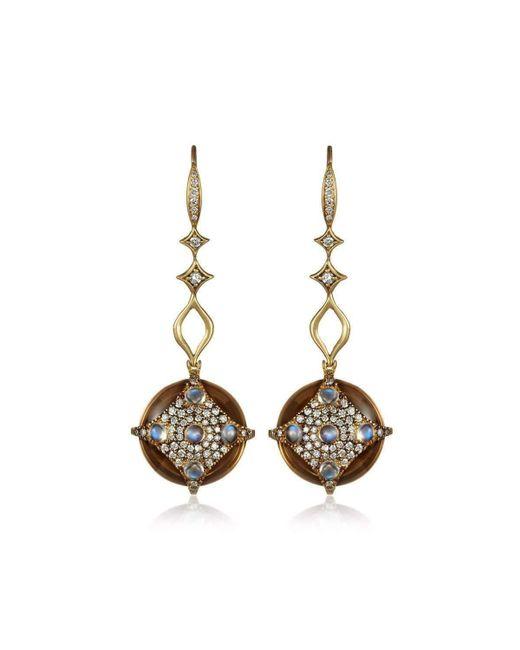 Anahita Jewelry - Metallic 18kt Yellow Gold Medallion Earrings - Lyst