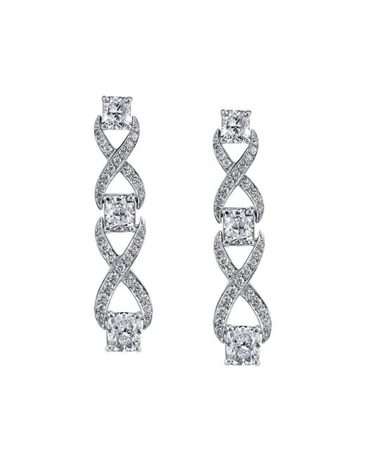Harry Kotlar - Metallic Kotlar Cushion Diamonds Chantilly Drop Earrings - Lyst