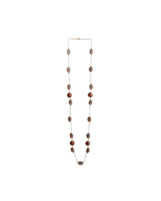 M's Gems by Mamta Valrani - Metallic Sienna Chain With Chalcedony And Beads - 38 Inch - Lyst