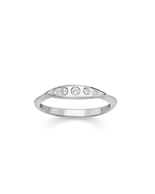 London Road Jewellery   Multicolor Portobello White Gold Diamond Velvet Leaf Single Row Ring   Lyst