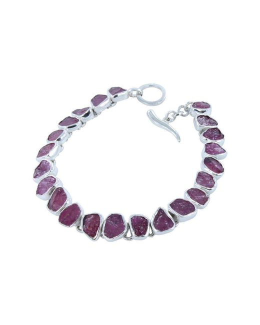 Reeves and Reeves - Multicolor Rough Stone Ruby Bracelet - Lyst