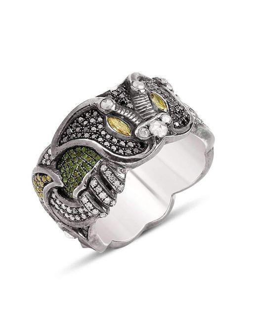 Suciyan - Metallic Dragon Knot Multi Diamond Ring - Lyst