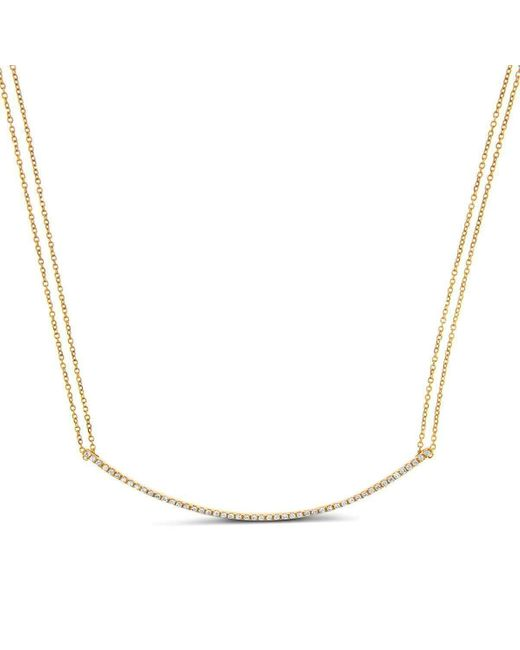 Cosanuova - Metallic Round Bar Necklace - Lyst