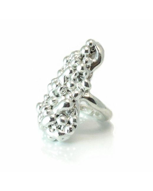 Private Opening - Metallic Caviar Sterling Silver Shiny Ring - Lyst