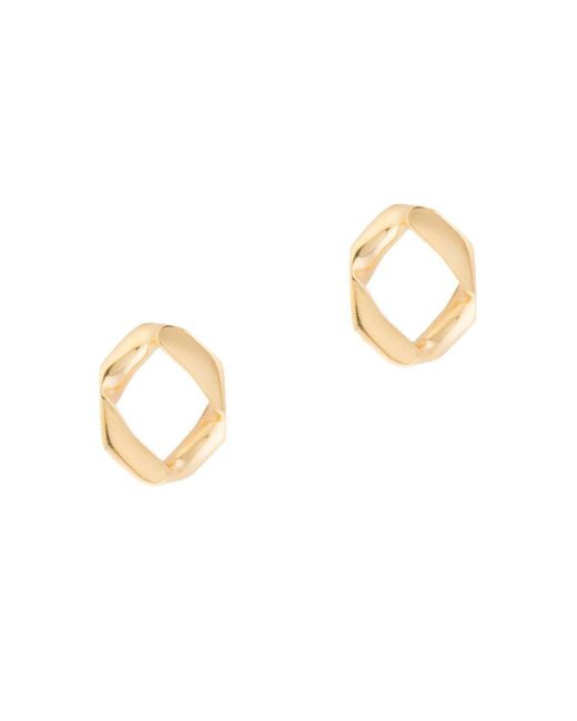Joanna Laura Constantine - Metallic Link Stud Earrings - Lyst