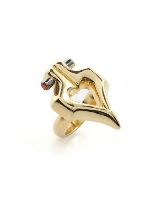 Faye Marie Jewellery - Metallic Double Gold Firefly Ring - Lyst