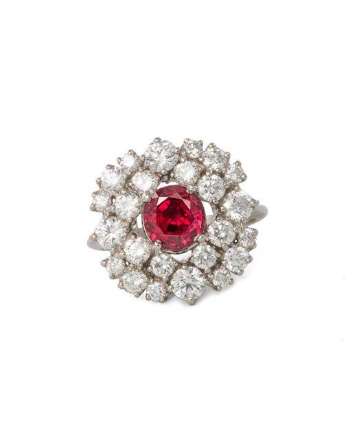 Katherine LeGrand Custom Goldsmith - Multicolor Platinum & Ruby Art Deco Ring | Katherine Legrand - Lyst