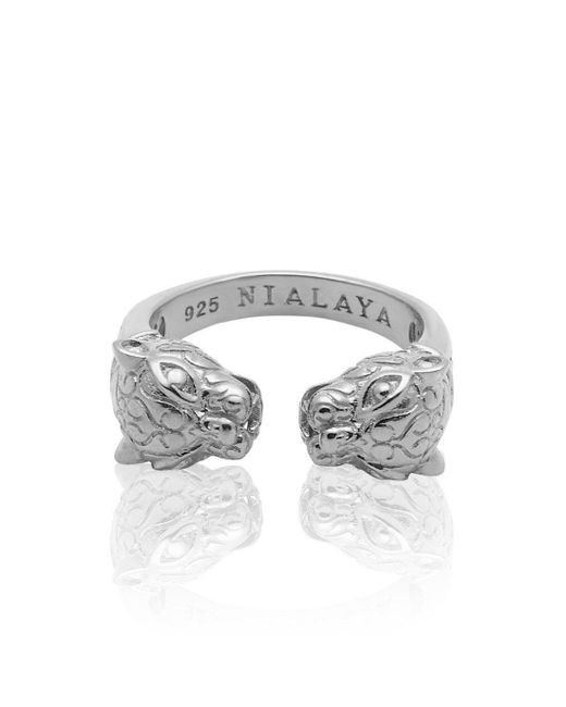 Nialaya - Multicolor Panther Ring In Silver - Lyst