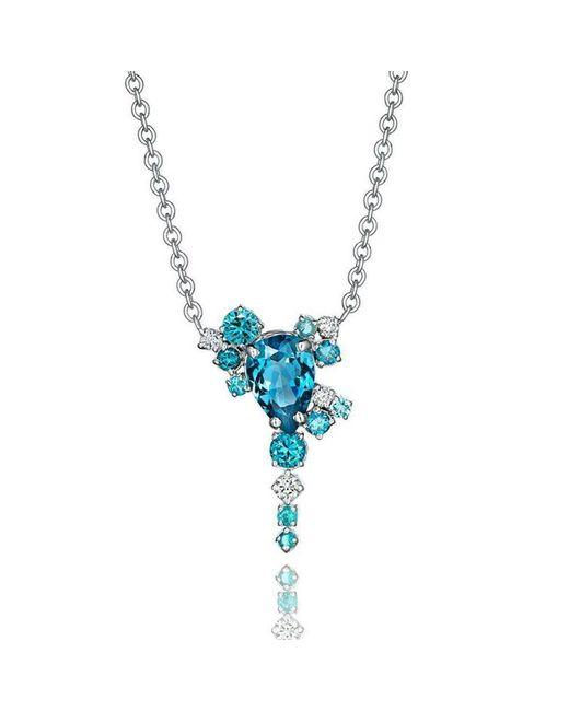 Madstone Design - Blue Topaz And Diamond Melting Ice Pendant - Lyst