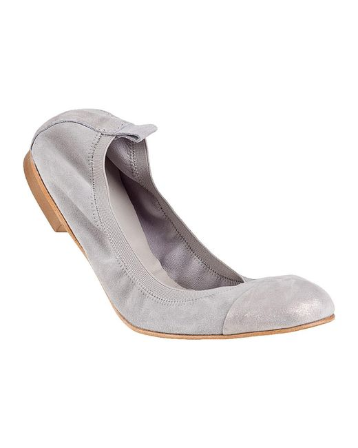 275 Central | Gray Cap Toe Ballet Flat Grey Suede | Lyst