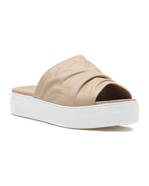 J/Slides | Natural Alura Sand Leather Slide | Lyst