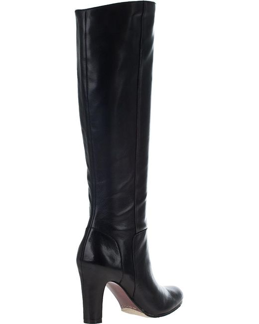 Sam Edelman Serephina Tall Boot Black Leather In Black