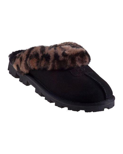 Ugg | Coquette Slipper Leopard/black Suede | Lyst
