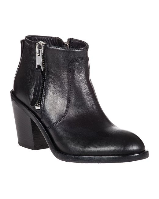 275 Central   Black Adam Dual-Zip Leather Ankle Boot    Lyst