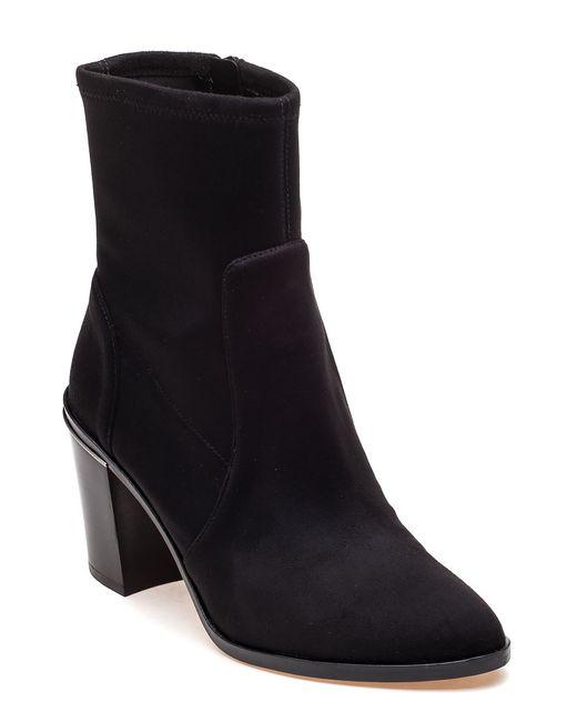 michael michael kors black suede ankle boot in black