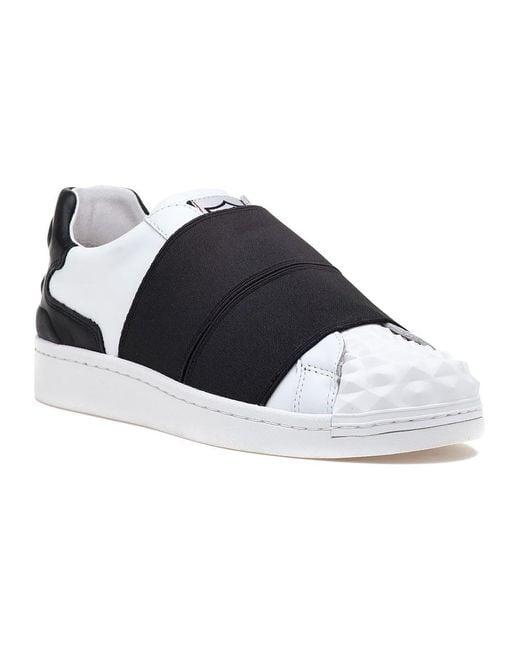 Ash | Clip White/black Leather Sneaker | Lyst