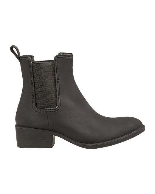 0d0f2a0ece21 ... Jeffrey Campbell - Black Stormy Runner Rubber Ankle Boots - Lyst ...