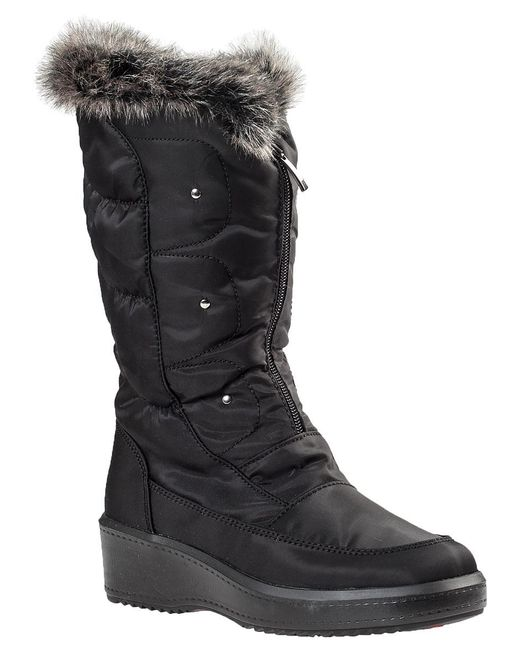 Pajar - Louise Snow Boot Black Fabric - Lyst