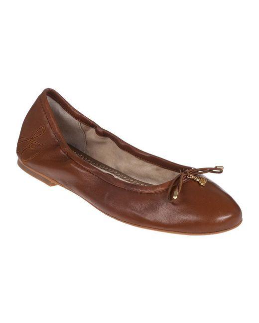 Sam Edelman - Brown Felicia Ballet Flat Saddle Leather - Lyst