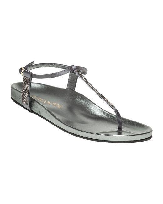 275 Central | Metallic Asia Satin Sandals | Lyst