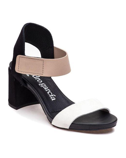 Pedro Garcia | Willa Black/white/beige Sandal | Lyst