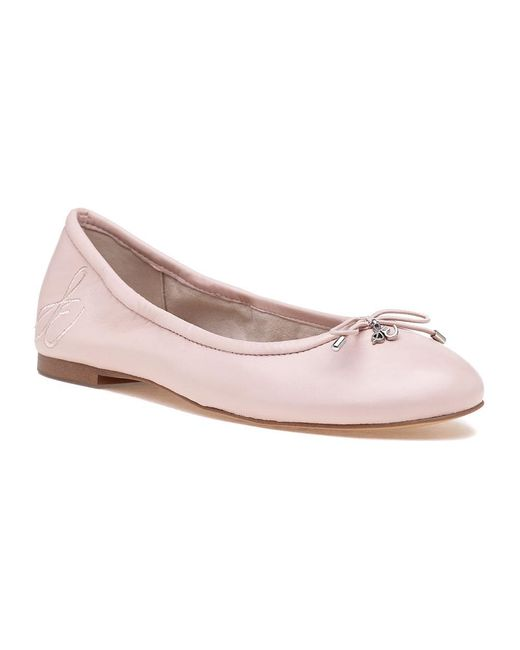 Sam Edelman | Felicia Ballet Light Pink Leather | Lyst