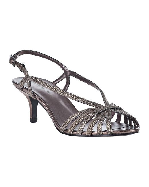 Pelle Moda | Metallic Firefly Evening Sandal Pewter Leather | Lyst
