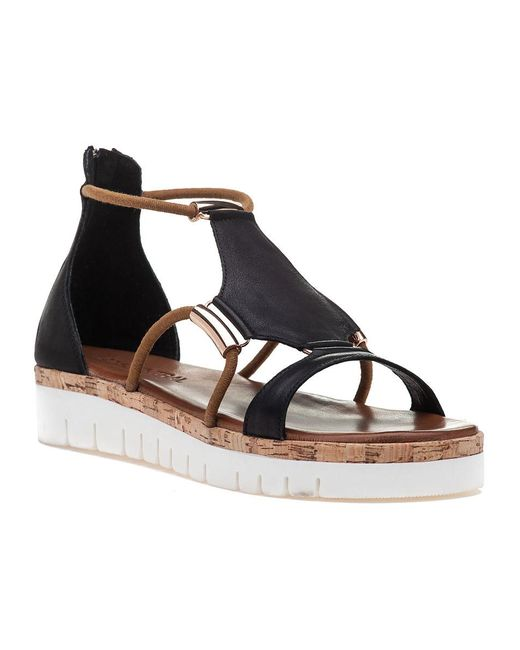 275 Central | 7903 Black Leather Sandal | Lyst