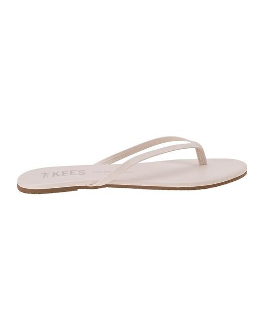 d350e918a36e ... TKEES - Multicolor Foundations Flip Flop Sea Shell Leather - Lyst ...