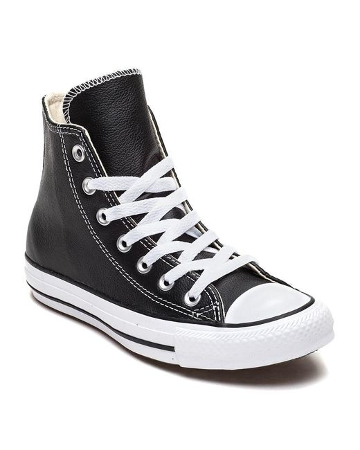 5c3f92daef8a ... Converse - Chuck Taylor All-star Hi-top Sneaker Black Leather - Lyst ...