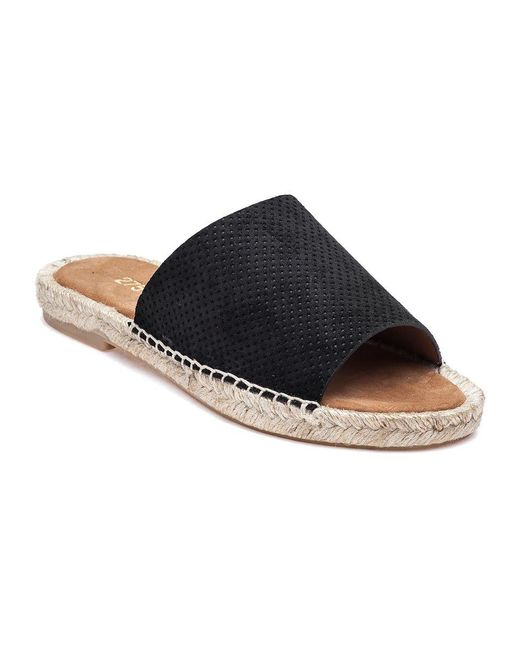 275 Central - Mali-pf Perforated Black Suede Slide - Lyst