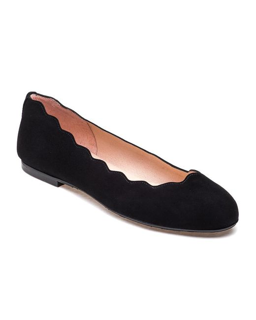 French Sole | Jigsaw Ballet Flat Black Suede | Lyst