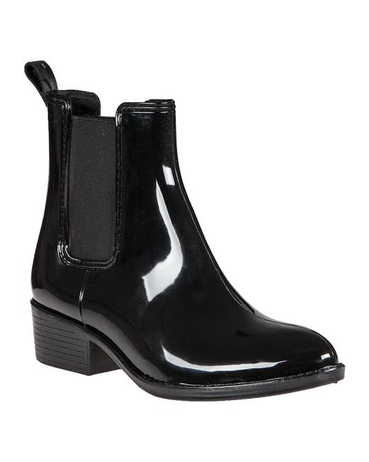 Jeffrey Campbell | Stormy Rain Boot Black Rubber | Lyst