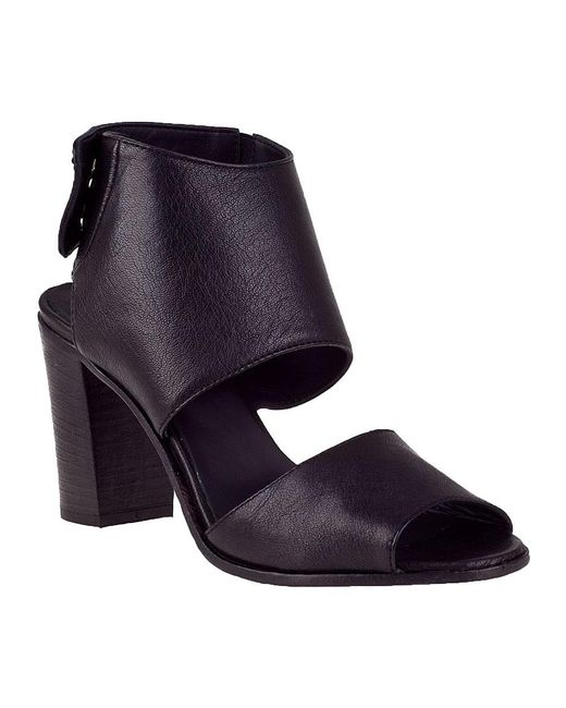 275 Central | Block Heel Sandal Black Leather | Lyst