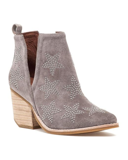 Jeffrey Campbell | Brown Asterial Boot Taupe Suede Silver | Lyst