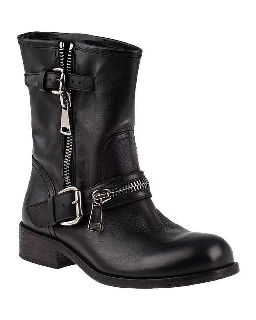 275 Central | 1887 Biker Boot Black Leather | Lyst