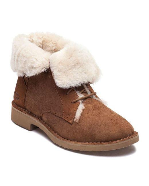 1517eaa50510 Ugg - Brown Quincy Chestnut Suede Lace Up Boot - Lyst ...
