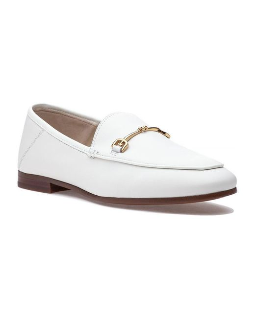 709d27fe86d Sam Edelman Loraine Loafer White Leather in White - Save 12% - Lyst
