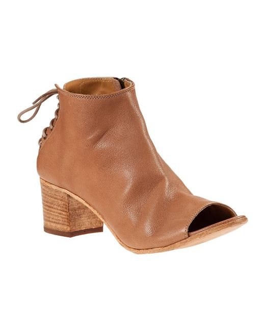275 Central | Brown Laced Back Bootie Cuoio Leather | Lyst