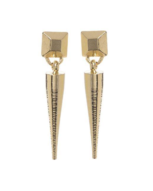 Jill Golden   Metallic Pyramid Spike Earring   Lyst